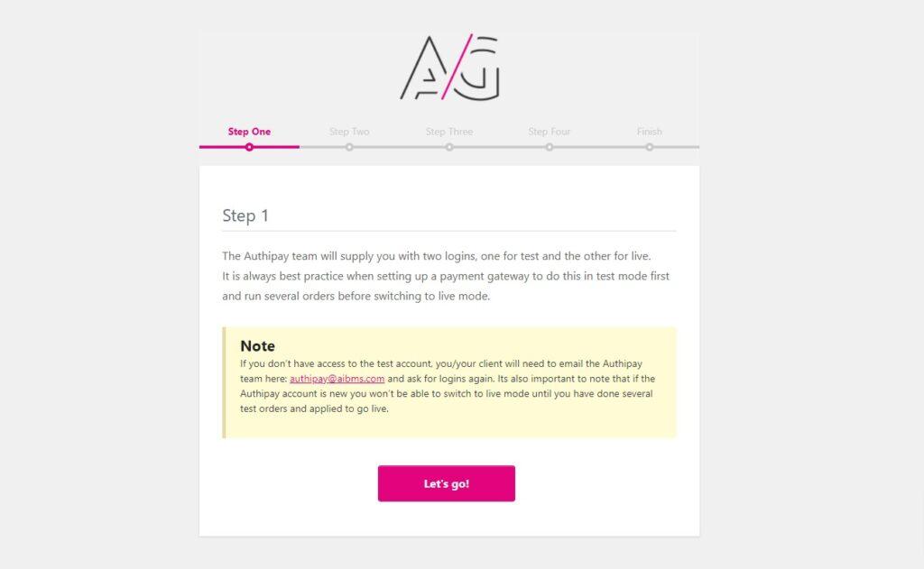 authipay login details